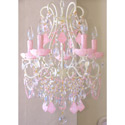 Opal Crystal 5 Light Beaded Chandelier, Nursery Lighting | Kids Floor Lamps | ABaby.com