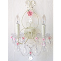 Porcelain Roses Wall Sconce