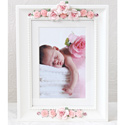 Pink Bouquet Picture Frame, Kids Bedroom Decor | Clocks | Baby Picture Frames | ABaby.com