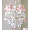 Rose Shade 5 Light Chandelier, Chandeliers for Kids Rooms & Nursery | Mini Chandelier | aBaby.com