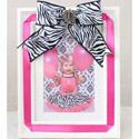 Zebra Bow Picture Frame, Kids Bedroom Decor | Clocks | Baby Picture Frames | ABaby.com