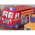 Fire Engine Toy Box, Kids Storage Bins | Personalized Kids Toy Boxes | ABaby.com