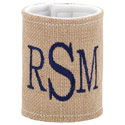 Personalized Burlap Coozie