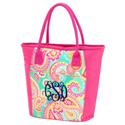 Personalized Summer Paisley Cooler Tote