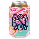 Personalized Summer Paisley Coozie