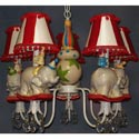 Whimsical Circus 5 Arm Chandelier, Circus Fun Nursery Decor | Circus Fun Wall Decals | ABaby.com