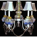 Yellow 'n Blue Nautical 5 Arm Chandelier, Nautical Themed Nursery | Nautical Bedding | ABaby.com