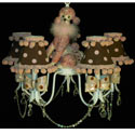 Poodle 'n Polka Dots 5 Arm Chandelier, Paris Posh Nursery Decor | Paris Posh Wall Decals | ABaby.com