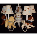 Adorable Puppies 5 Arm Chandelier, Nursery Lighting | Kids Floor Lamps | ABaby.com
