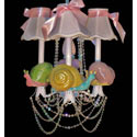Friendly Snails 3 Arm Chandelier, Frogs And Bugs Nursery Decor | Frogs And Bugs Wall Decals | ABaby.com