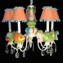 Five Little Fish Chandelier, Tropical Sea Nursery Decor | Tropical Sea Wall Decals | ABaby.com