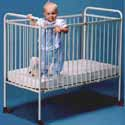 Metal Foldable Crib - Large Size, Commercial Daycare and Pre-School