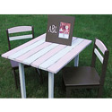 Kids Cottage Table and Chairs, Outdoor Toys | Kids Outdoor Play Sets | ABaby.com