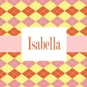 Argyle Personalized Girls Wall Art, Girls Wall Art | Artwork For Girls Room | ABaby.com