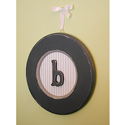 Boys Round Hanging Monogram, Wall Plaque | Kids | Nursery | ABaby.com