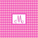 Houndstooth Initial Wall Art , Girls Wall Art | Artwork For Girls Room | ABaby.com