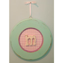 Girls Round Hanging Monogram,