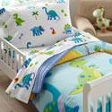 Dinosaurland Toddler Bedding, Toddler Bedding for Girls & Boys | Kids Bedding Sets | aBaby.com