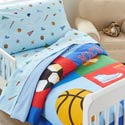 Game On Toddler Bedding, Sports Themed Nursery | Crib Bedding | Decor | aBaby.com