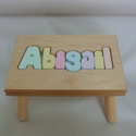 Name Puzzle Stool, Personalized Kids Step Stools | Step Stools for Toddlers | ABaby.com