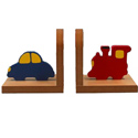 Transportation Bookends, Train Nursery Decor | Train Wall Decals | ABaby.com