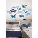 Mighty Vintage Planes Wall Decal
