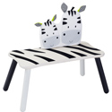 Eco-Friendly Zebra Long Bench, African Safari Themed Toys | Kids Toys | ABaby.com