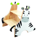 Eco-Friendly Zebra Step Stool, African Safari Themed Toys | Kids Toys | ABaby.com