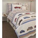 Cars and Trucks Twin Bedding Collection, Train And Cars Themed Nursery | Train Bedding | ABaby.com