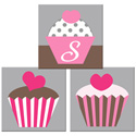 Personalized Cupcake Wall Art, Girls Wall Art | Artwork For Girls Room | ABaby.com