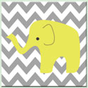 Chevron Modern Elephant Canvas Art, Girls Wall Art | Artwork For Girls Room | ABaby.com