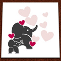 Hand Painted Elephant Hearts Wall Art, Girls Wall Art | Artwork For Girls Room | ABaby.com