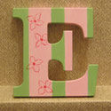 Pink n' Lime Striped Floral Wall Letters, Customized Wall Letters | Childrens Wall Letters | ABaby.com