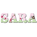 Pink Jungle Friends Wall Letters, Customized Wall Letters | Childrens Wall Letters | ABaby.com
