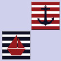 Hand Painted Nautical Canvas Wall Art Set, Modern Artwork | Geometric Artwork | ABaby.com
