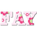 Fantastic Flower Wall Letters, Customized Wall Letters | Childrens Wall Letters | ABaby.com