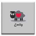 Little Lamb Canvas Wall Art, Girls Wall Art | Artwork For Girls Room | ABaby.com