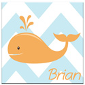 Personalized Chevron Whale Canvas Art, Tropical Sea Themed Nursery | Tropical Sea Bedding | ABaby.com