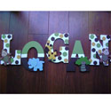 Logan's Safari Fun Wall Letters,