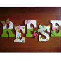 Spring Green Little Critters Wall Letters,