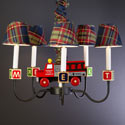 Firetruck and Blocks Chandelier, Fireman Nursery Decor | Fireman Wall Decals | ABaby.com