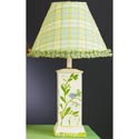 Blue Bird & Vine Square Column Lamp,