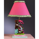Chocolate Flower Bunny Lamp,