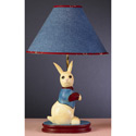 Denim Bunny Lamp, Bunnies Themed Nursery | Bunnies And Bears Bedding | ABaby.com