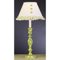 Green 'n Ivory Polka Dot Lamp, Nursery Lighting | Kids Floor Lamps | ABaby.com