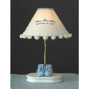 Monogrammed Baby Bootie Lamp, Personalized Nursery Decor | Baby Room Decor | ABaby.com