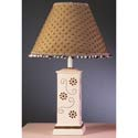 Pink Square Column Lamp with Chocolate Flowers,