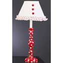 Red and White Polka Dot Lamp,