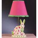 Spring Flower Bunny Lamp, Bunnies Themed Nursery | Bunnies And Bears Bedding | ABaby.com