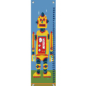 Yellow Robot Growth Chart, Personalized Baby Growth Chart for Girls & Boys